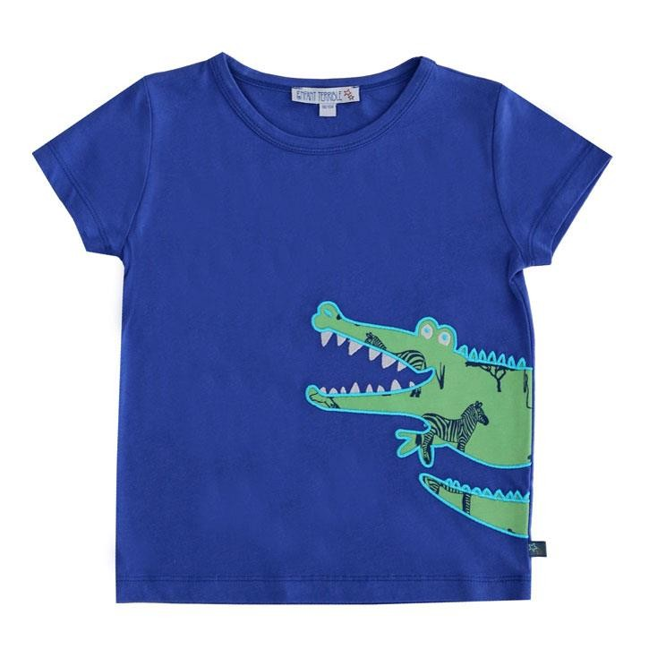 Enfant Terrible Shirt mit Krokodil Navy