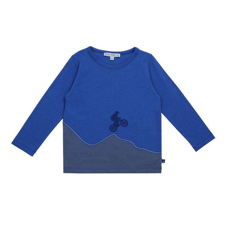 Enfant Terrible Shirt mit Mountainbike royal