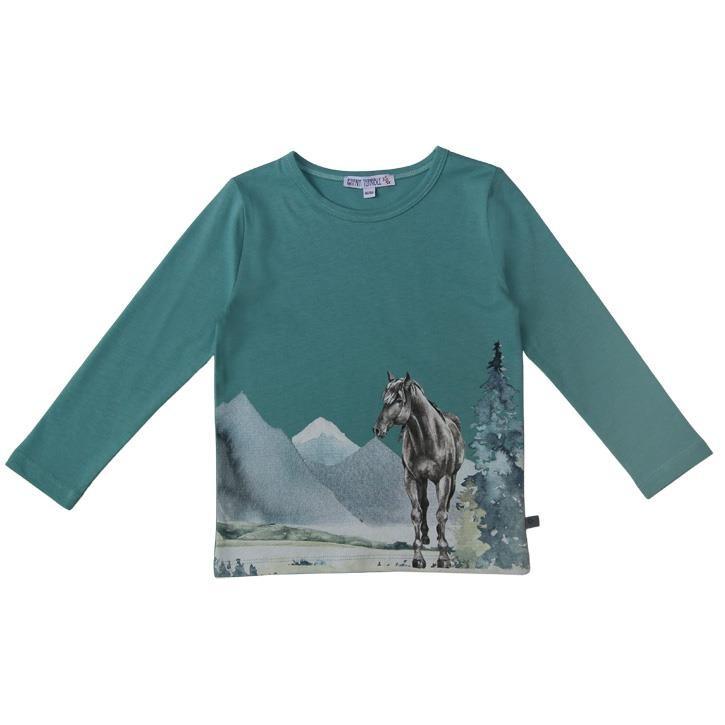 Enfant Terrible Shirt mit Pferdedruck ozean