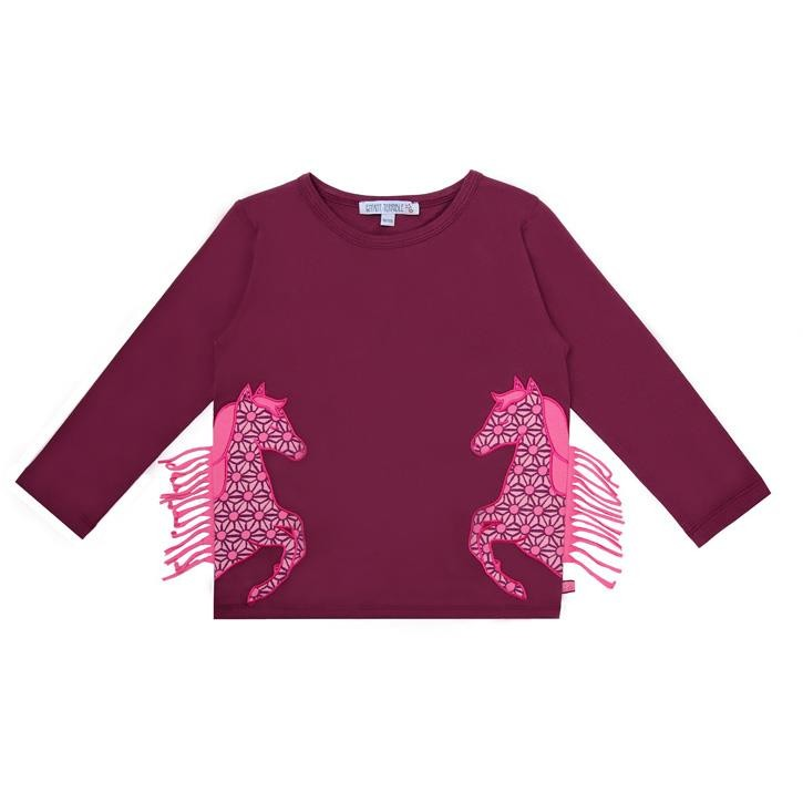Enfant Terrible Shirt mit Pferden bordeaux