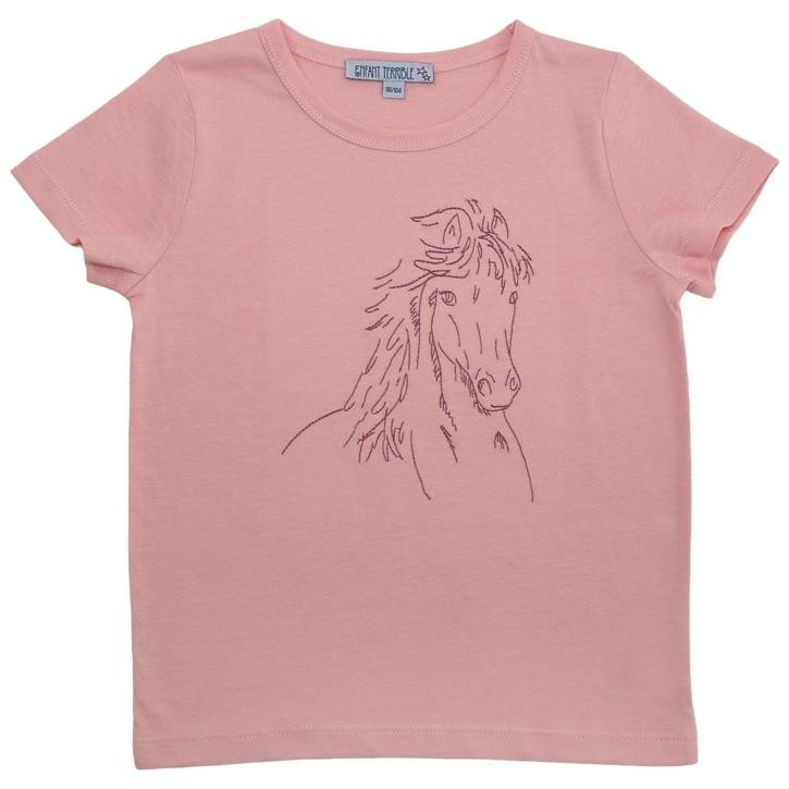 Enfant Terrible Shirt mit Pferd hellrosé