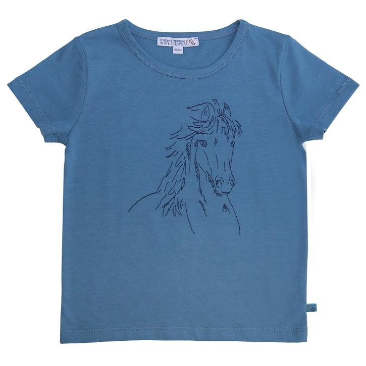 Enfant Terrible Shirt mit Pferd petrol