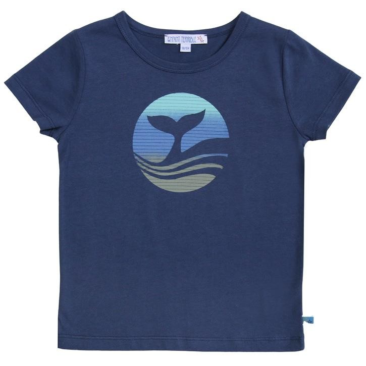 Enfant Terrible Shirt mit Walflossendruck navy