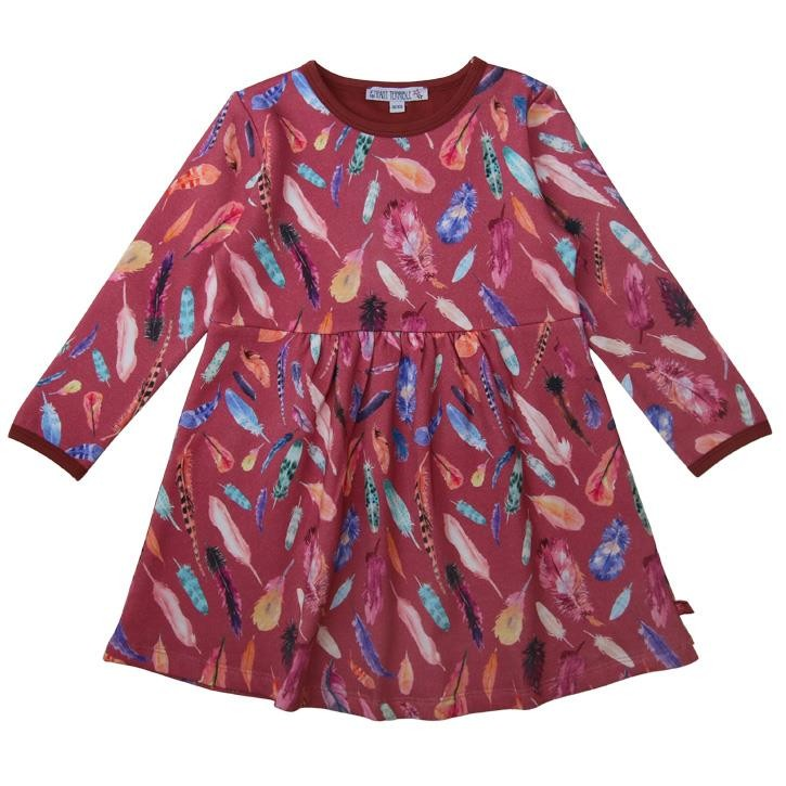 Enfant Terrible Sweatkleid mit Federdruck  rosé-erika
