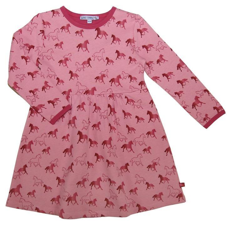 Enfant Terrible Sweatkleid mit Pferdedruck rosé-erika