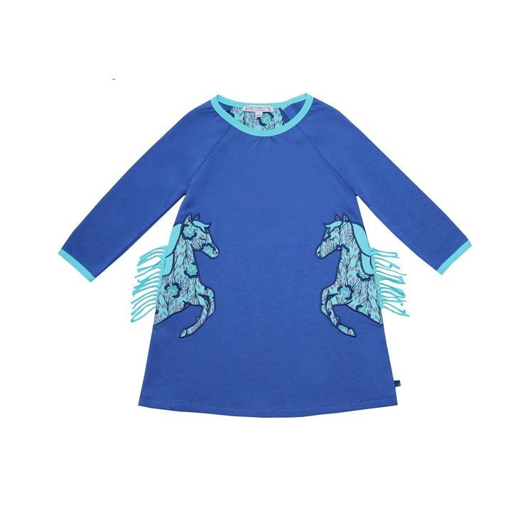Enfant Terrible Sweatkleid Pferdeapplikation royal