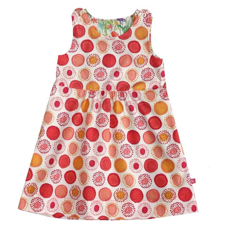 Enfant Terrible Wendekleid Blumenwiese/Kreise white- strawberry