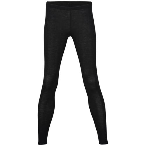 Engel Damen-Leggings, schwarz, 46/48, 70Wolle/30Seide
