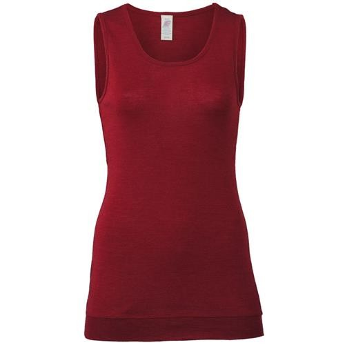 Engel Long-Shirt, ärmellos, malve, 38/40, 70Wolle/30Seide