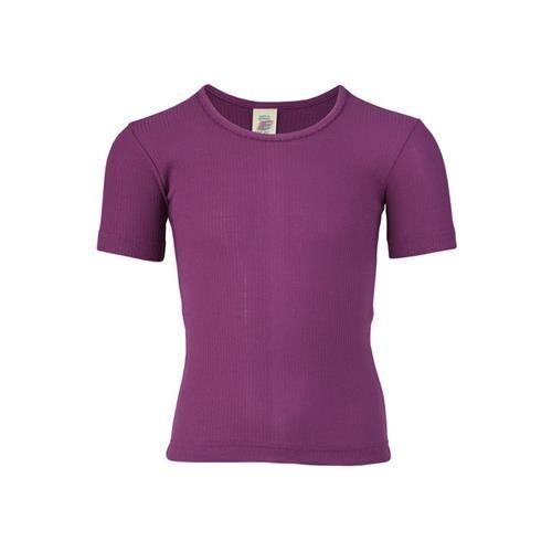Engel Mädchen-Unterhemd, kurzarm, fuchsia, Baumwolle