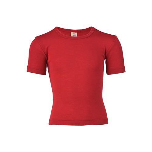 Engel Shirt, kurzarm, kirschrot, 140, 70Wolle/30Seide