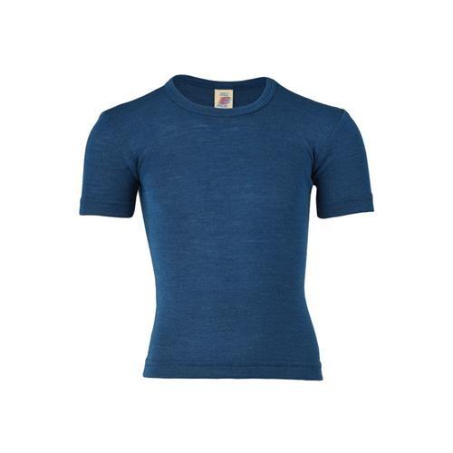 Engel Shirt, kurzarm, light ocean, 140, 70Wolle/30Seide