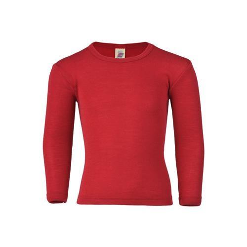 Engel Shirt, langarm, kirschrot, 140, 70Wolle/30Seide