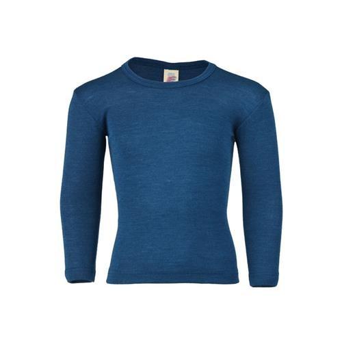 Engel Shirt, langarm, light ocean, 128, 70Wolle/30Seide
