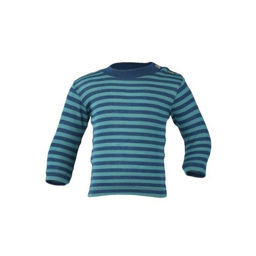 Engel Shirt, langarm, m. Stehkragen, light ocean/eisvogel, 110/116, 70Wolle/30Seide