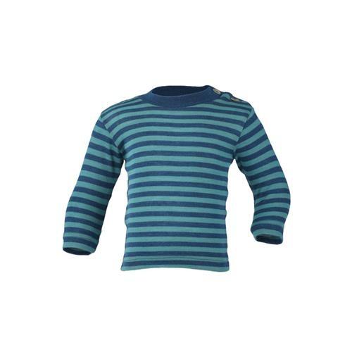 Engel Shirt, langarm, m. Stehkragen, light ocean/eisvogel, 70Wolle/30Seide