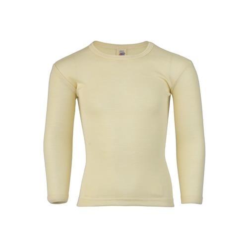 Engel Shirt, langarm, natur, 116, 70Wolle/30Seide