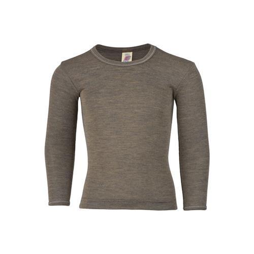 Engel Shirt, langarm, walnuss, 116, 70Wolle/30Seide