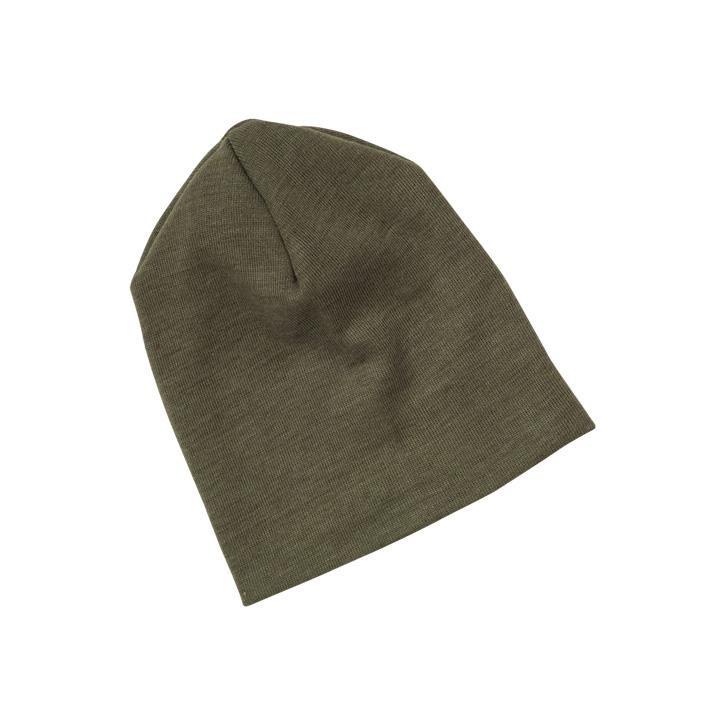 Engel Baby-Mütze, Wolle/Seide olive