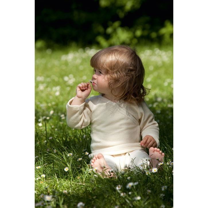 Engel Baby-Pulli, mit Druckknöpfen an der Seite, GOTS - natur -