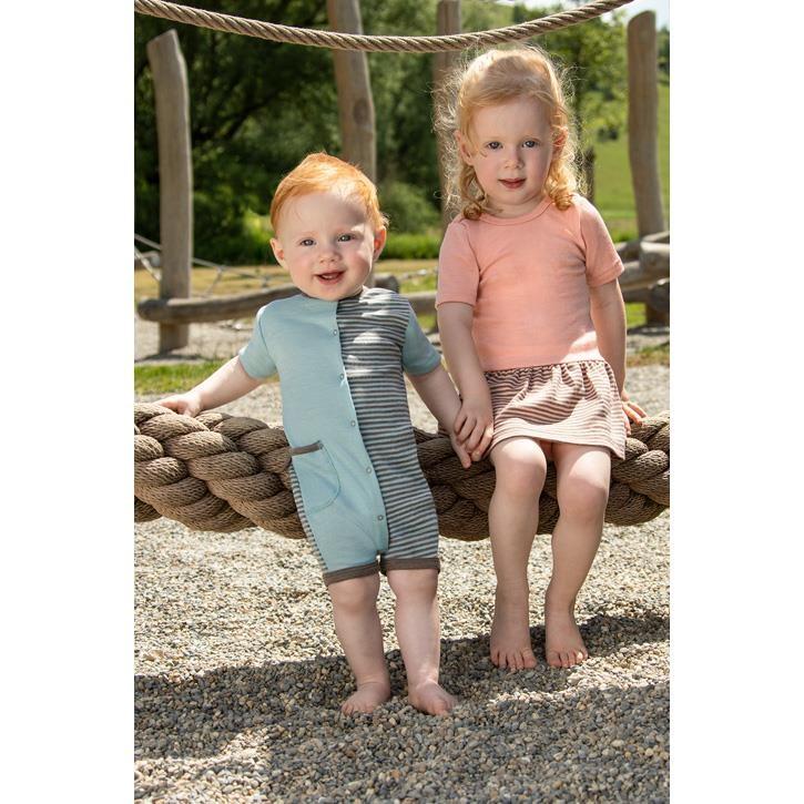 Engel Baby-Spieler, GOTS - orange/braun + blau/braun 70Wolle/30Seide