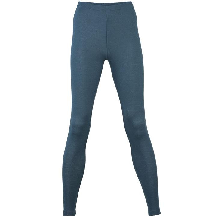 Engel Damen-Leggings, atlantik, 34/36, 70Wolle/30Seide