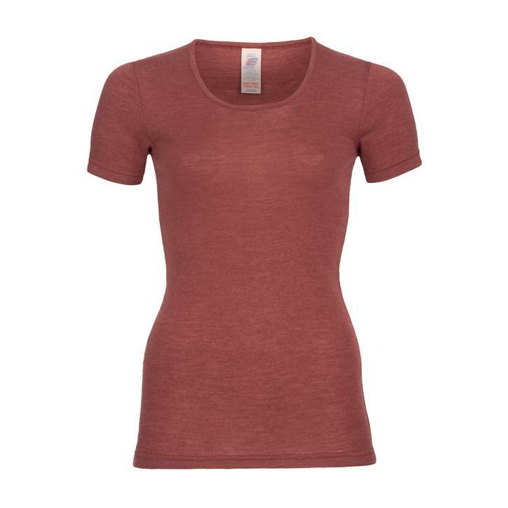 Engel Damen-Shirt, kurzarm, Wolle/Seide kupfer