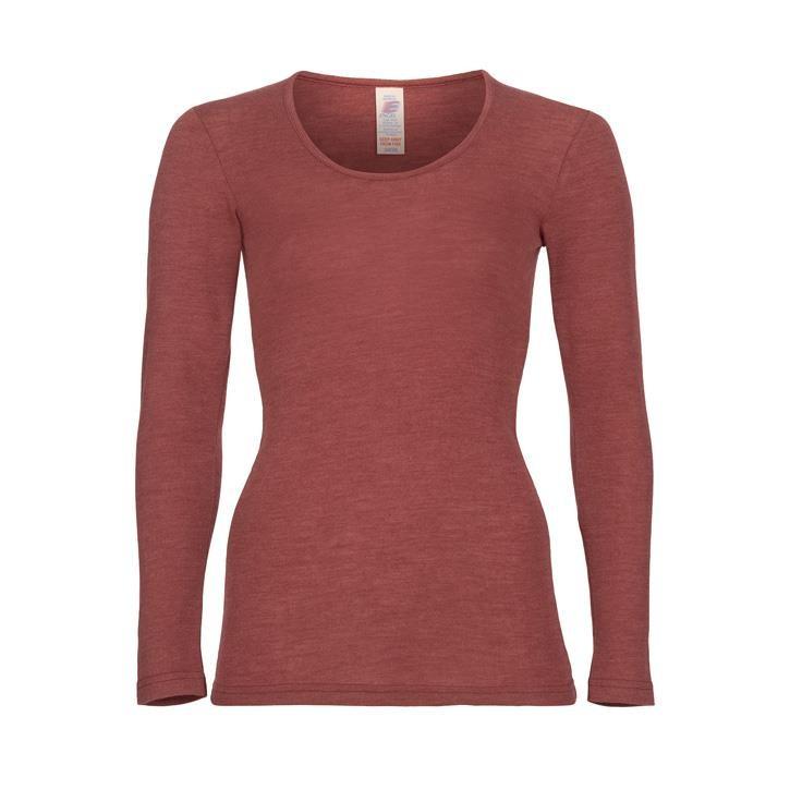 Engel Damen-Shirt, langarm, Wolle/Seide kupfer