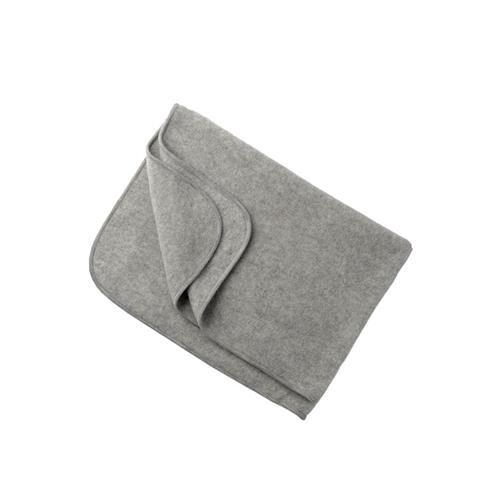 Engel Decke, hellgrau melange, 1, Woll-Fleece