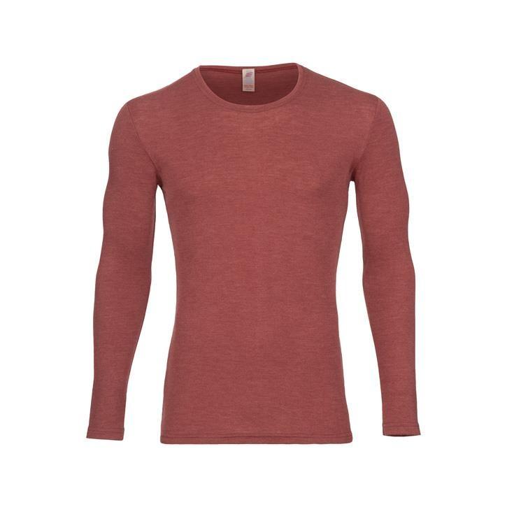 Engel Herren-Shirt, langarm, Wolle/Seide kupfer