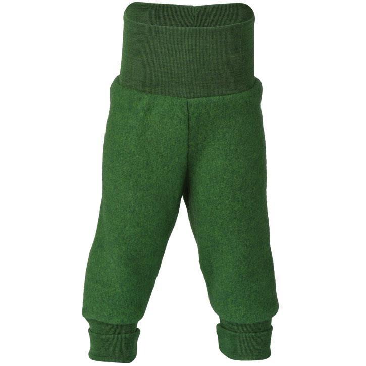 Engel Hose, m. Nabelbund, grün melange, Woll-Fleece