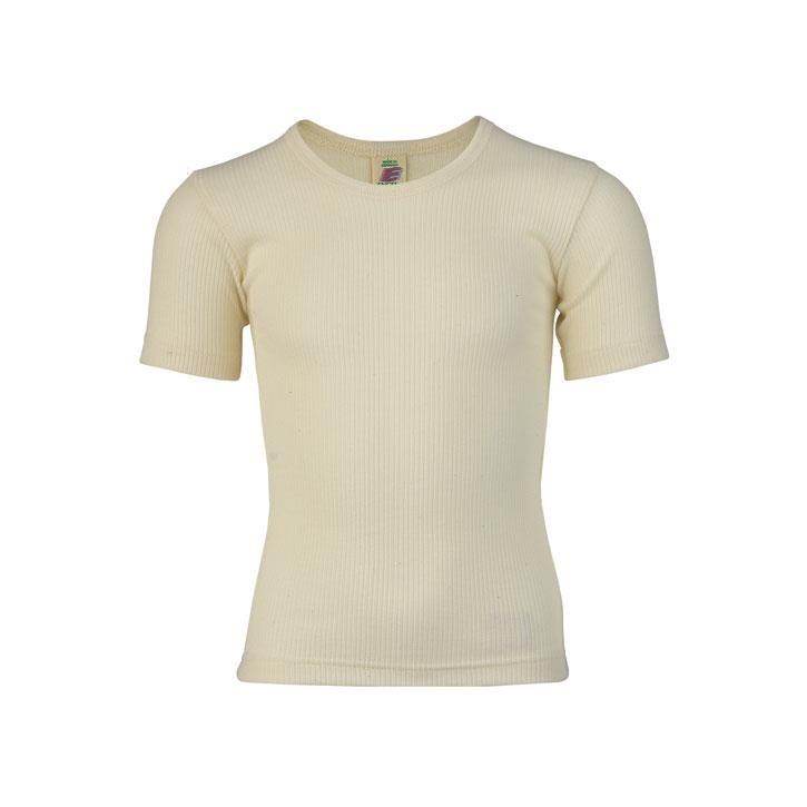 Engel Jungen-Unterhemd, kurzarm, natur,  Baumwolle