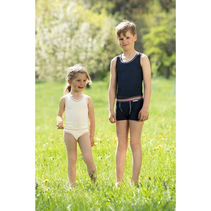 Engel Kinder-Achselhemd, IVN BEST - natur - indigo