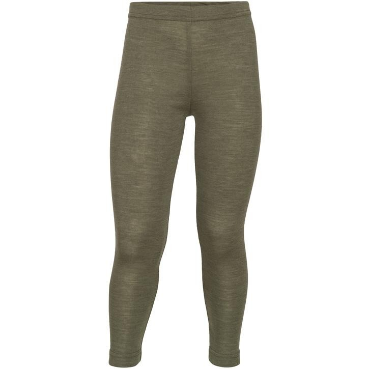 Engel Kinder-Leggings, Wolle/Seide olive