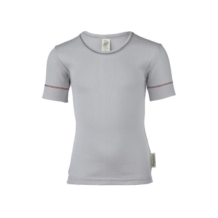 Engel Kinder-Shirt, kurzarm, IVN BEST - grau -