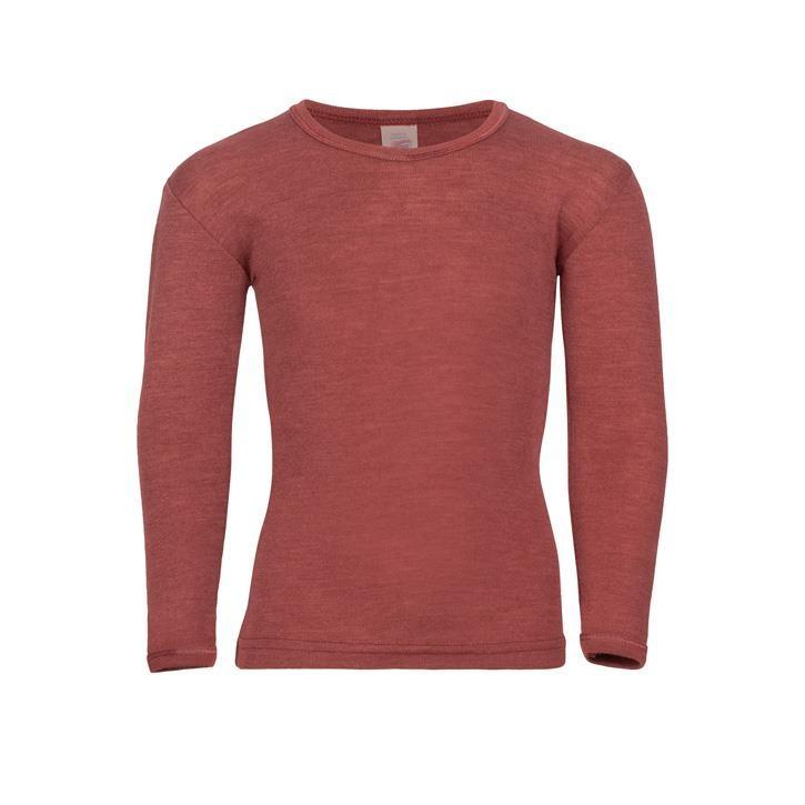 Engel Kinder-Shirt, langarm, Wolle/Seide kupfer