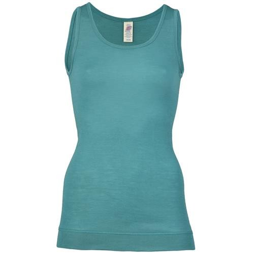 Engel Long-Shirt, ärmellos, eisvogel, 70Wolle/30Seide