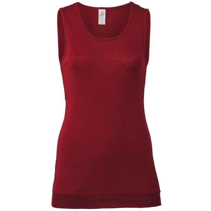 Engel Long-Shirt, ärmellos, malve, 70Wolle/30Seide