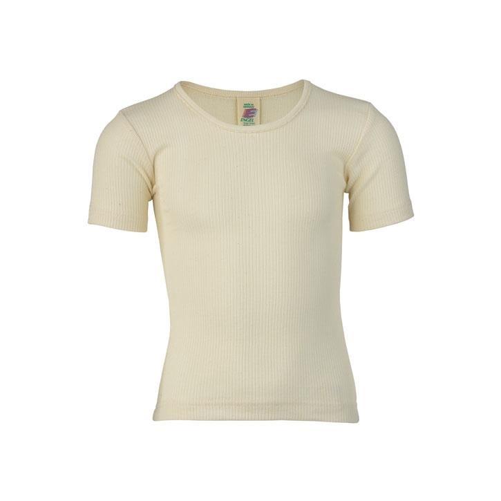 Engel Mädchen-Unterhemd, kurzarm, natur, Baumwolle