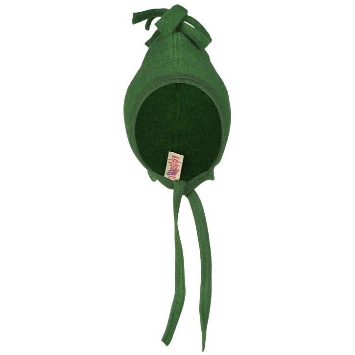 Engel Mütze, grün melange,  Woll-Fleece