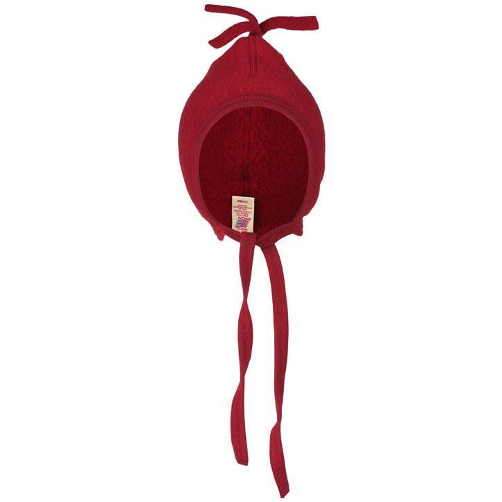 Engel Mütze, rot melange,  Woll-Fleece