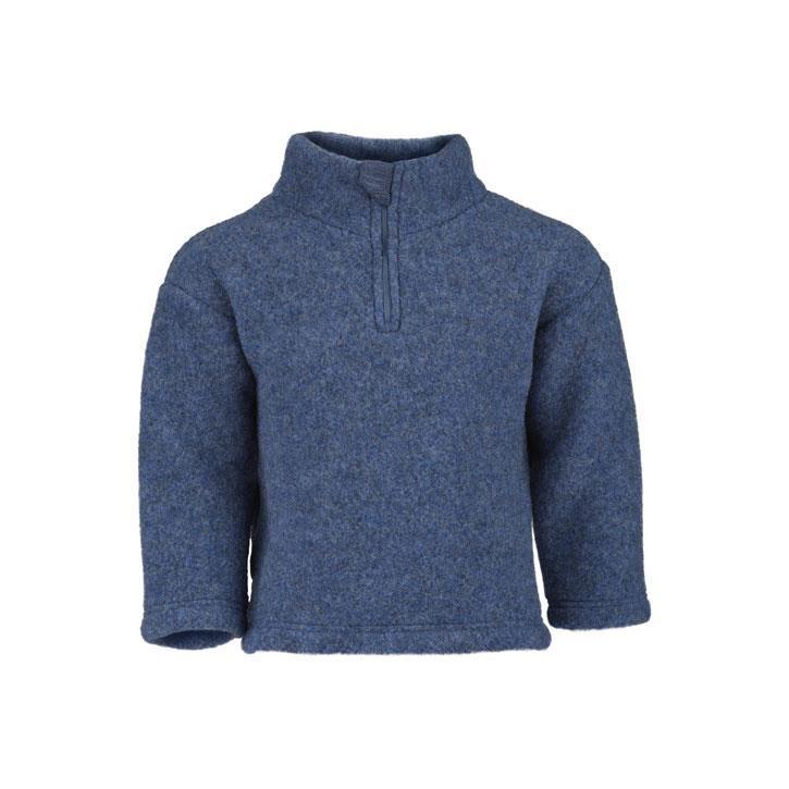 Engel Pullover, blau melange, Woll-Fleece