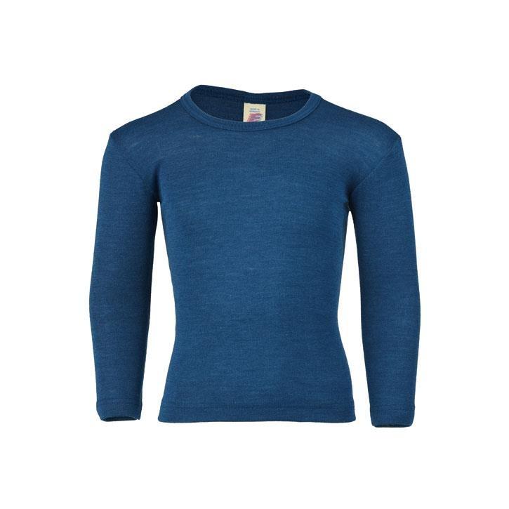 Engel Shirt, langarm, light ocean, 70Wolle/30Seide