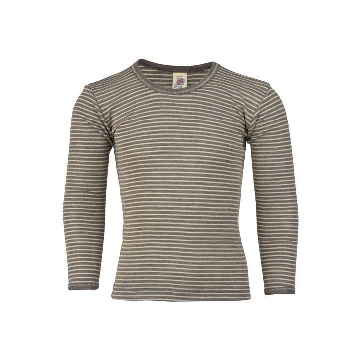 Engel Shirt, langarm, walnuss/natur, 70Wolle/30Seide