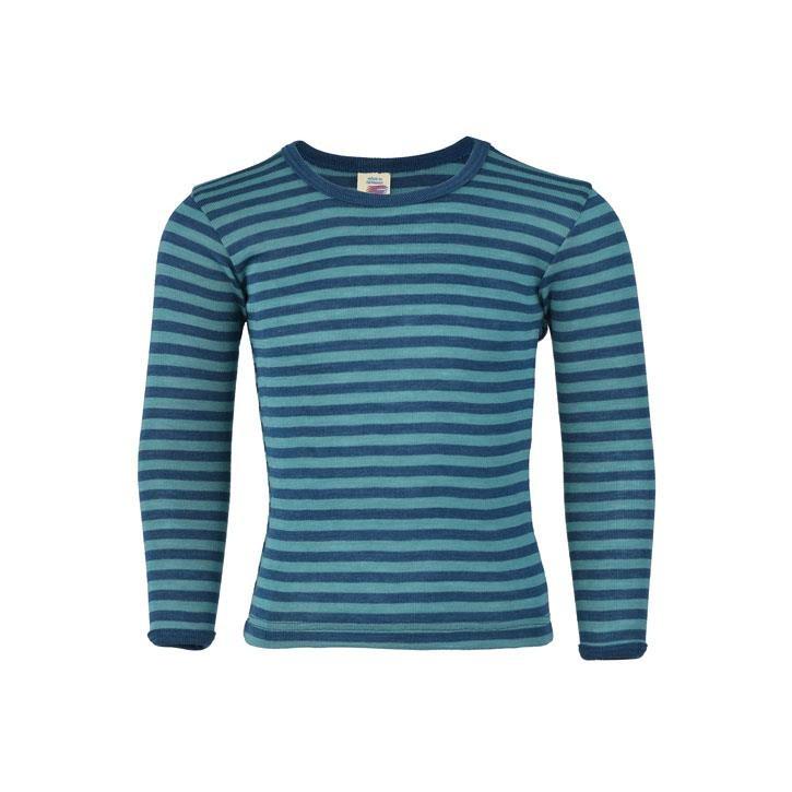 Engel Unterhemd, langarm, light ocean/eisvogel, 70Wolle/30Seide