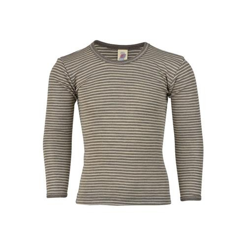 Engel Unterhemd, langarm, walnuss/natur, 70Wolle/30Seide