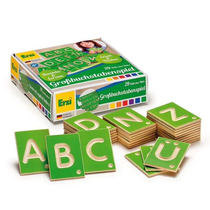 Erzi Lernspiel Großbuchstaben 42012