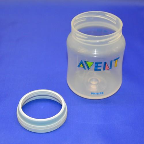 PP Classicflasche, Flaschenkörper mit Ring, SCF680/17, 125ml