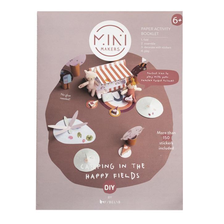 Fabelab MM Booklet Happy Fields A4 - 6 Blätter + 1 Seite Sticker