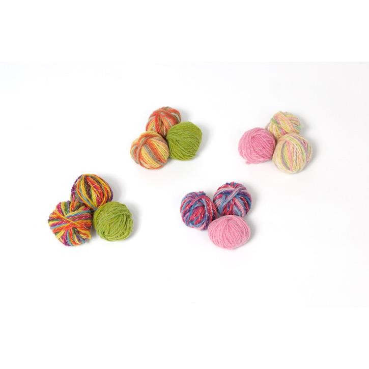 Filges Häkelblumen-Kette, multicolor, pflanzengefärbt, pastell Töne